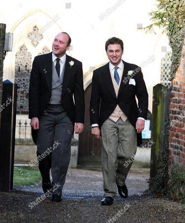 Thomas Van Straubenzee and the brother of the groom Tom Aubrey-Fletcher