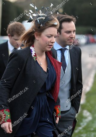 Stock Image of Victoria Inskip and Jamie Murray Wells arrive with Prince Harry