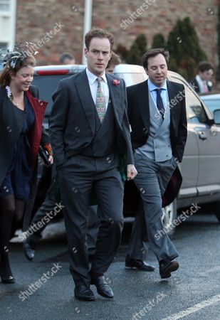 Stock Picture of Thomas Inskip, Jamie Murray Wells and Victoria Inskip arrive with Prince Harry