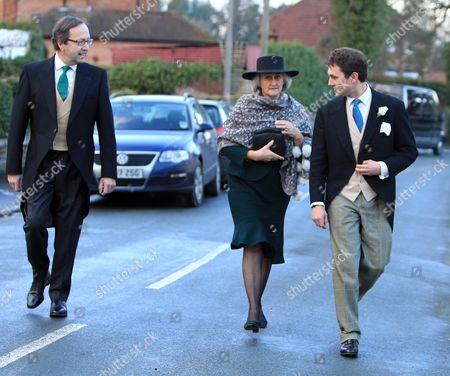 Stock Image of Thomas Van Straubenzee escorting his mother Claire and father Alex Van Straubenzee