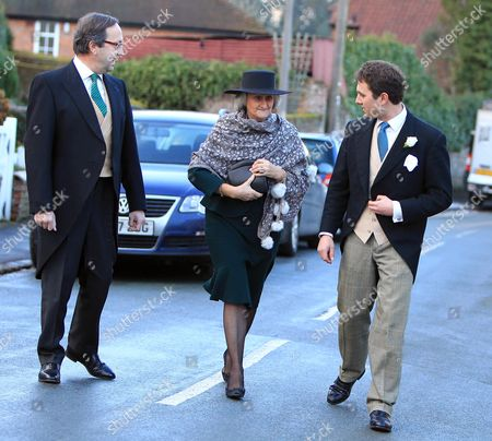 Stock Photo of Thomas Van Straubenzee is seen escorting his mother Claire and father Alex Van Straubenzee