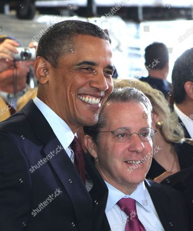 President Barack Obama and Gene B Sperling, who is to be the Director of the National Economic Council