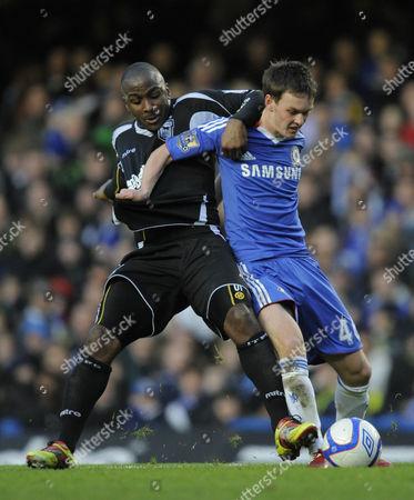 Jason Scotland of Ipswich Town and Josh McEachran of Chelsea