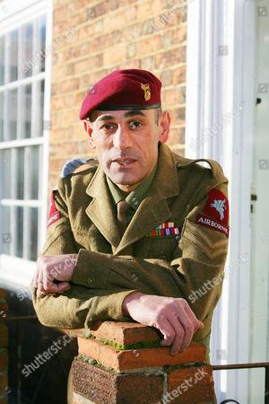 Editorial picture of Corporal Richard Nauyokas at home in Billingborough, Britain - 10 Jan 2011