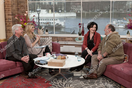 Phillip Schofield and Holly Willoughby with Blythe Duff and Alex Norton