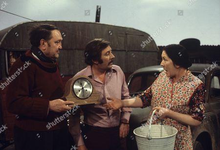 Arthur Mullard, James Beck and Queenie Watts