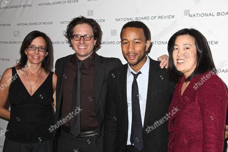 Lesley Chilcot, Davis Guggenheim, John Legend and Michelle Rhee