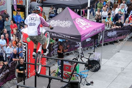 Freestyle Bike Tour at the Spinaker Shopping Centre, Portsmouth, Britain -  Britian's Martyn Ashton