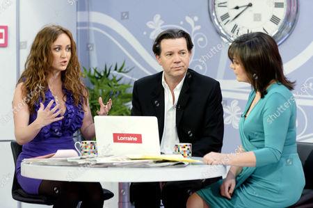 Martell Maxwell, Kevin O'Sullivan and Presenter Lorraine Kelly