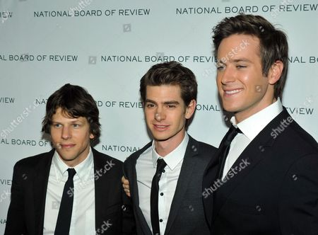 Jesse Eisenberg and Andrew Garfield and Armand Hammer