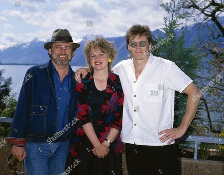 Art of Noise with Duane Eddy at the Montreux TV Festival in - Duane Eddy, Anne Dudley and J.J.Jeczalik