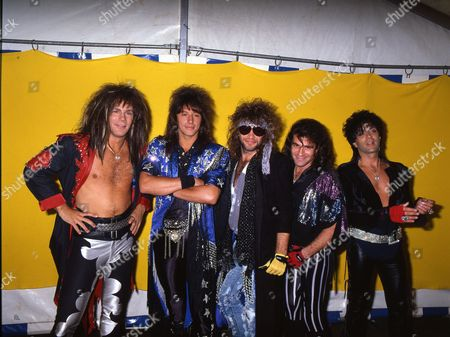 Bon Jovi at the Donnington Festival - David Bryan, Richie Sambora, Jon Bon Jovi, Tico Torres and Alec John Such