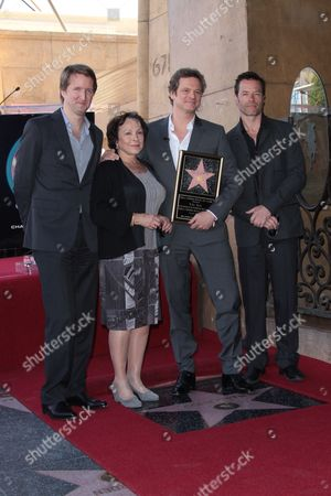Tom Hooper, Claire Bloom, Colin Firth and Guy Pearce