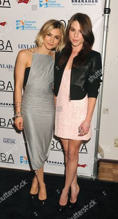 Stock Picture of Samaire Armstrong and Kendra Krull