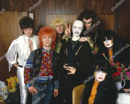 Stock Image of Doctor and The Medics - Richard Searle, Steve Ritchie, Steve McGuire, Clive Jackson (The Doctor) and Wendy West and Colette Appleby aka the Anadin Brothers
