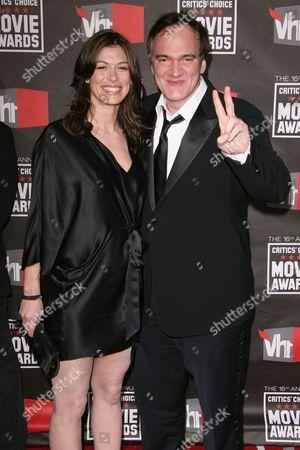 Julie Dreyfus and Quentin Tarantino
