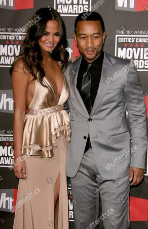 Stock Photo of John Legend and Danielle Abreu