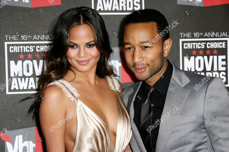 Stock Picture of John Legend and Danielle Abreu