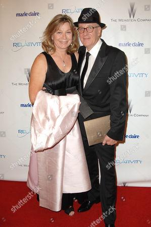Geoffrey Rush and wife Jane Menelaus
