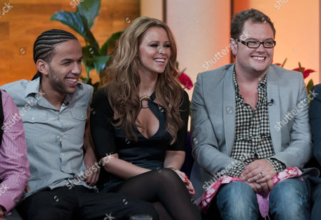 Aggros Santos, Kimberley Walsh and Alan Carr
