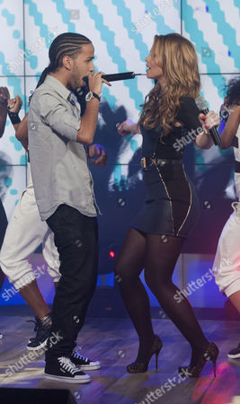 Aggros Santos and Kimberley Walsh