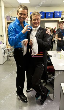 Craig McLachlan behind the scenes at Dancing on Ice with Dominic Cork