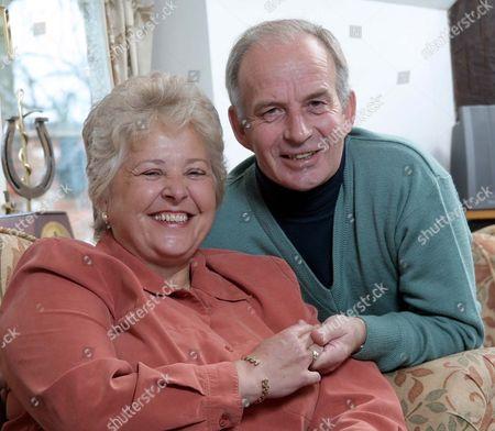 Jenny Pitman and her husband David at their home near Newbury, Berkshire, Britain