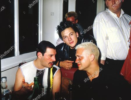 Stock Photo of Freddie Mercury, Mark O'Toole and Belouis Some
