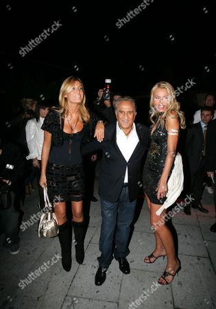 Raffaella Zardo, Emilio Fede and Valeria Marini - Party for Rete4, Milan, Italy