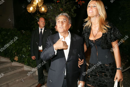 Emilio Fede and Raffaella Zardo - Party for Rete4, Milan, Italy