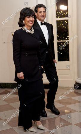 ABC News reporter, Christiane Amanpour and James Rubin