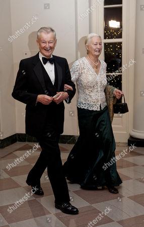 Zbigniew Brzezinski and his wife Emilie Brzezinski