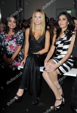 Vanisha Mittal, Bar Refaeli and Megha Mittal (Escada's new owner)
