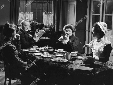 Patsy Smart as Roberts, Gordon Jackson as Mr Hudson, Angela Baddeley as Mrs Bridges and Jean Marsh as Rose