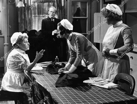 Angela Baddeley as Mrs Bridges, Gordon Jackson as Mr Hudson, Jacqueline Tong as Daisy and Pippa Page as Mary