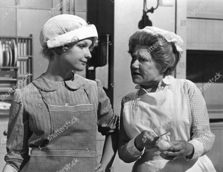 Elaine Donnelly as Mabel and Angela Baddeley as Mrs Bridges