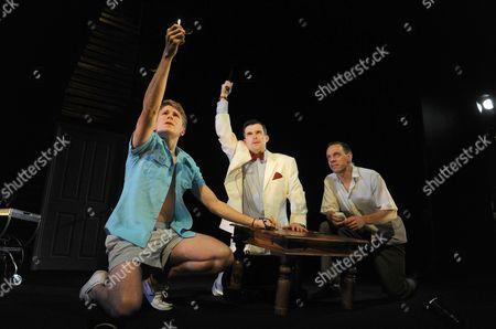 George Rainsford (Clark), Nick Fletcher (Mr Palacios) and Trevor White (Rolf)