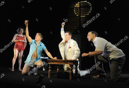 Alexandra Maher (Ginger), George Rainsford (Clark), Nick Fletcher (Mr Palacios) and Trevor White (Rolf)