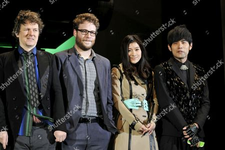 Stock Photo of Michel Gondry, Seth Rogen, Ryoko Shinohara and Jay Chou