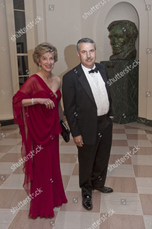 Stock Image of Thomas Friedman of the New York Times and his wife Ann Friedman