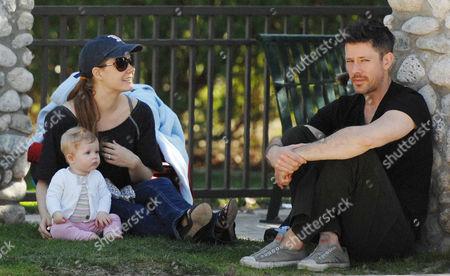 Amy Adams, Darren Le Gallo and daughter Aviana Olea Le Gallo