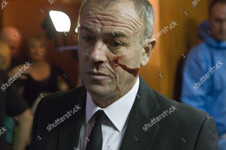 Stock Picture of Callum Sutherland as the dead Frank Brandon