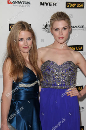 Stock Photo of Trilby Glover with Rachael Taylor