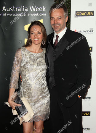 Stock Picture of Cameron Daddo & Alison Brahe
