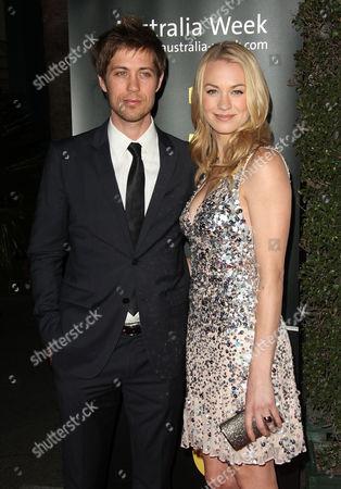 Stock Image of Yvonne Strahovski and Timothy Loden