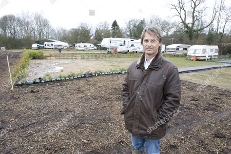 Noah Burton whose owns and lives on a traveller's site in Meriden, Warwickshire where locals are compaigning against his presence