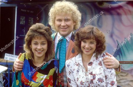 """COLIN BAKER AS """"DR WHO"""" WITH NICOLA BRYANT AND JANET FIELDING"""