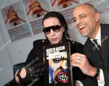 Stock Image of Marilyn Manson and Gerald Matt