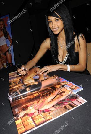 Editorial image of Playboy Playmate Kylie Johnson autograph signing at Palms Resort, Las Vegas, America - 22 Jan 2011