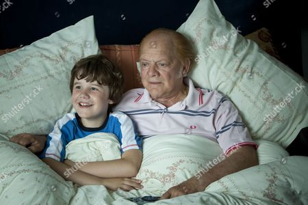 Stock Picture of Drew Blackall and Sir David Jason.